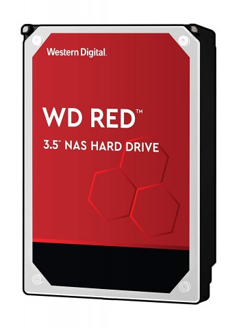 Generic view of a Western Digital Red 3.5in hard drive.