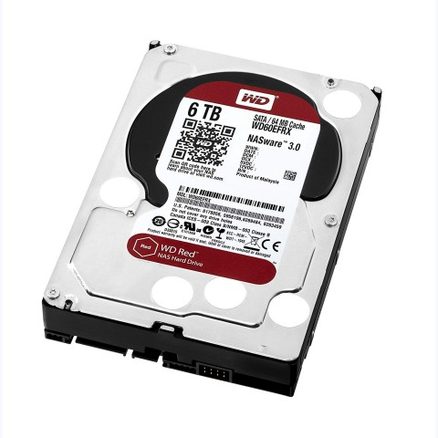 View 4 of the Western Digital WD60EFRX 6TB Red Hard Drive.