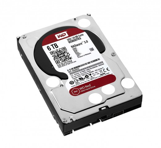View 5 of the Western Digital WD60EFRX 6TB Red Hard Drive