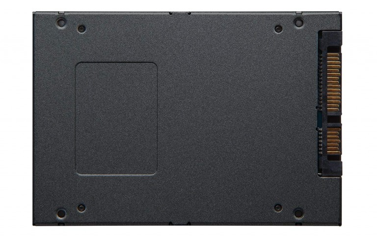 Back view of the Kingston A400 SSD.