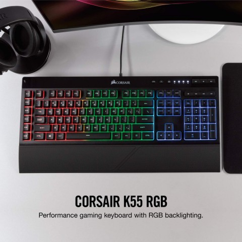 Picture of the K55 on a desk.