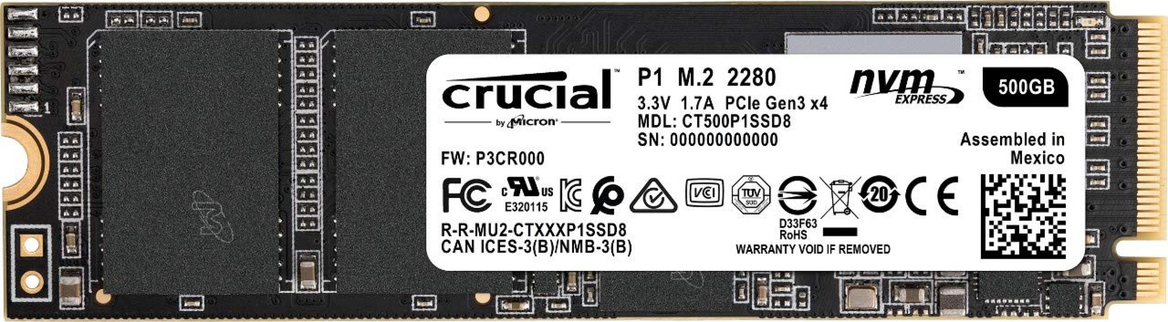 Crucial CT500P1SSD8 product image.