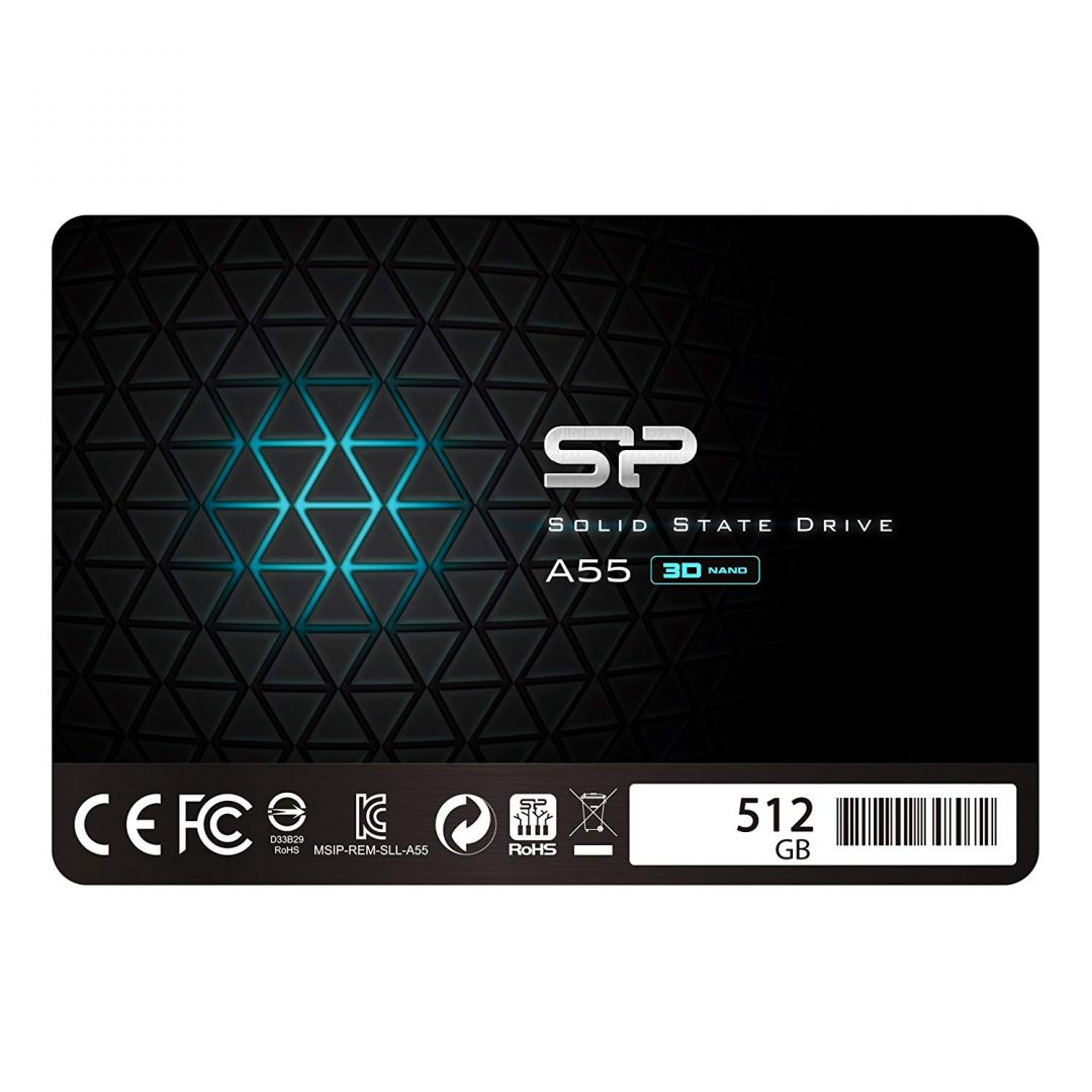 Silicon Power SP512GBSS3A55S25 product image.